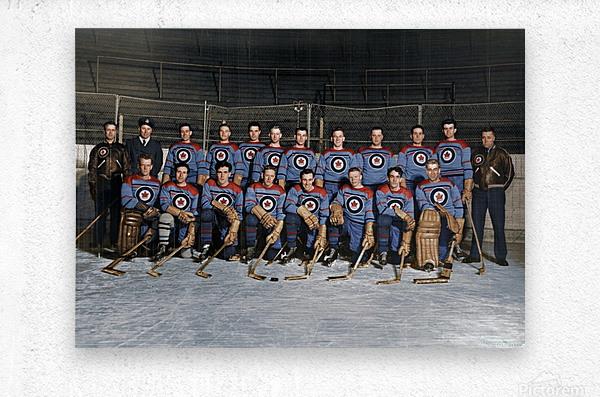 RCAF Flyers - Canadian Olympic Hockey Team October 29 1947  Metal print