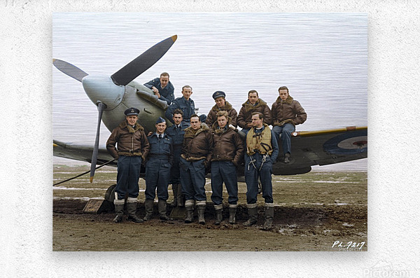 Members of 403 Squadron RCAF February 12 1942  Metal print