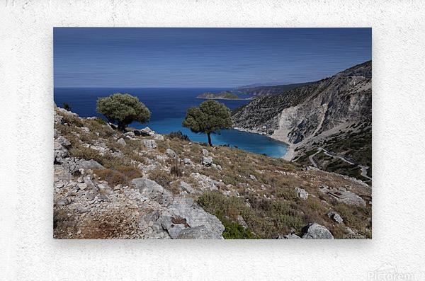 The Greek island of Kefalonia  Metal print