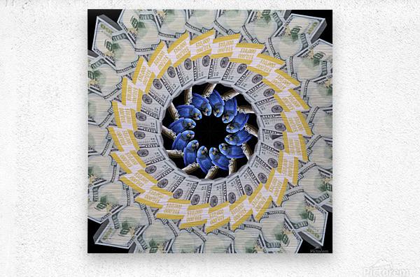Endless PARROT MONEY   Metal print