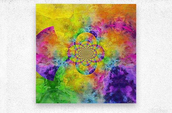 Colorful Fractal  Metal print
