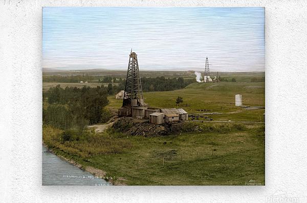 Turner Valley Alberta - 1914  Metal print