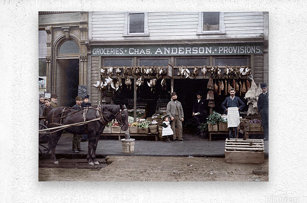 Chas Anderson Grocery Vancouver 1890s  Metal print