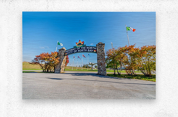 Gateway to The North  Metal print