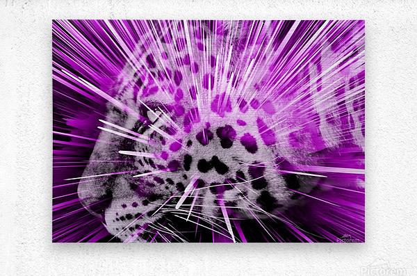 Leopard pop 3  Metal print