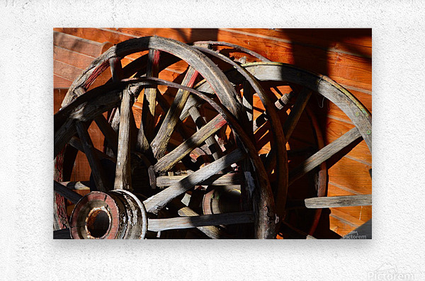 Wagon Wheels.05  Metal print