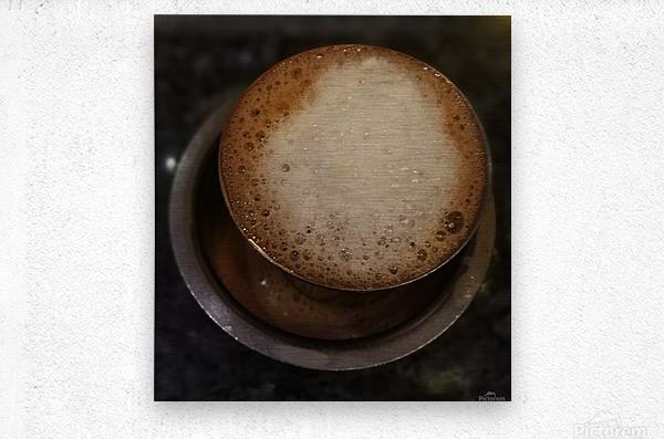 Indian Filter Coffee  Metal print