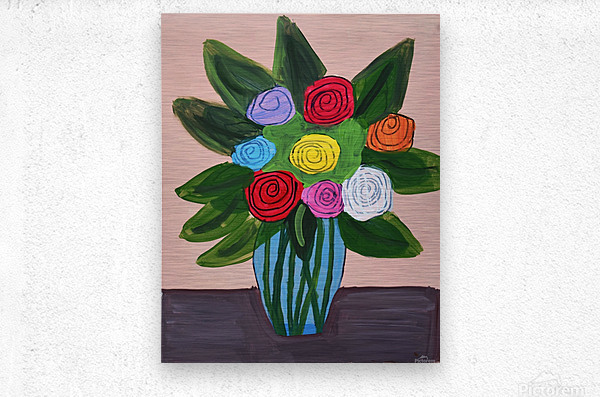 Flowers. Tala S  Metal print