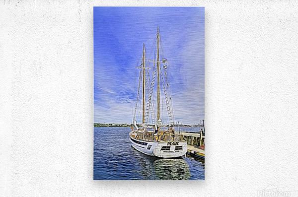 Mar Sailboat in Halifax  Metal print
