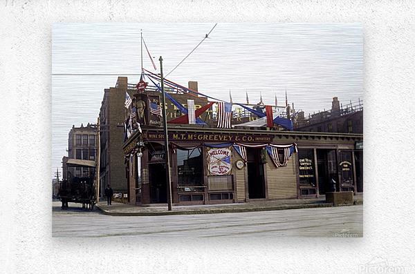 McGreevys Third Base Saloon Boston 1903  Metal print