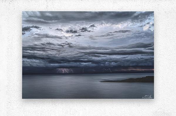 Lightning Over Lake Titicaca  Metal print