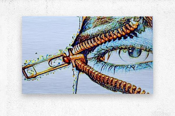 zipper eye  Metal print