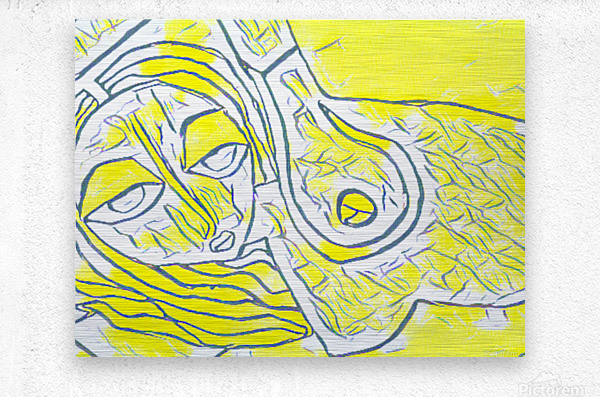 yellow girl  Metal print