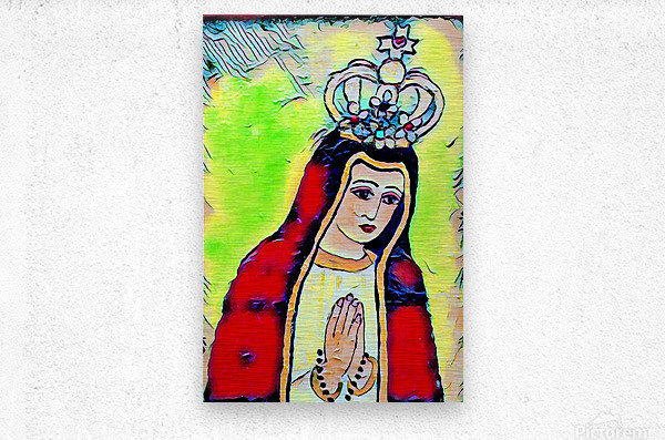 saint abstract  Metal print