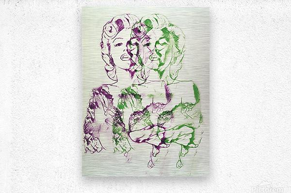 Marilyn Monroe double soul  Metal print