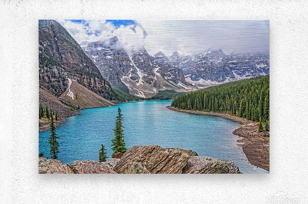 Moraine Lake in Banff National Park BC  Metal print