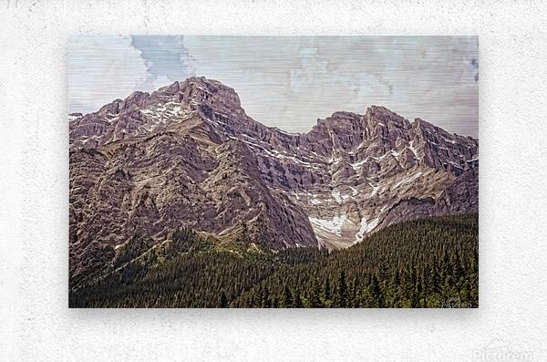 Cascade Mountain in Banff National Park BC  Metal print