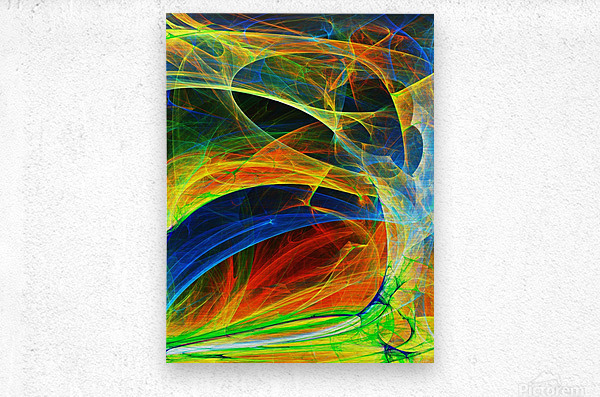 Abstract Composition 395  Metal print