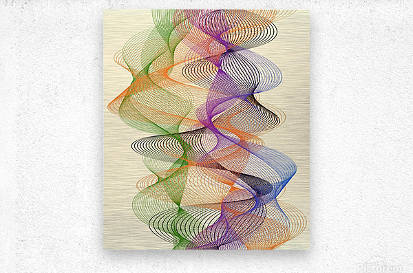 Abstract Composition 717  Metal print