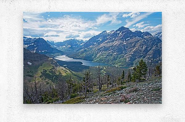 Two Medicine at Glacier National Park  Metal print