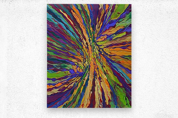 Abstract Composition 141  Metal print