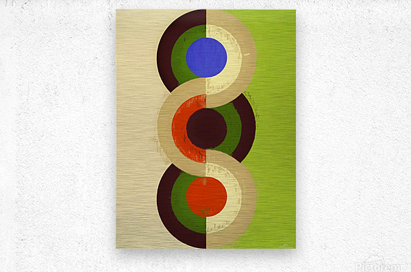 Abstract Composition 626  Metal print