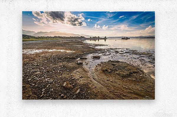 Mono Lake Shoreline  Metal print