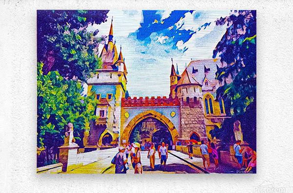 Vajdahunyad Castle  Metal print