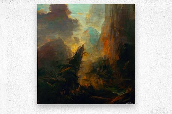 Fierce Landscape  Metal print