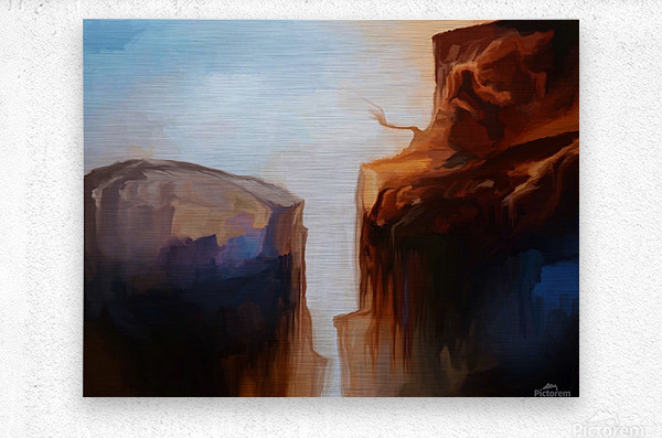 Sharp Cliffs  Metal print