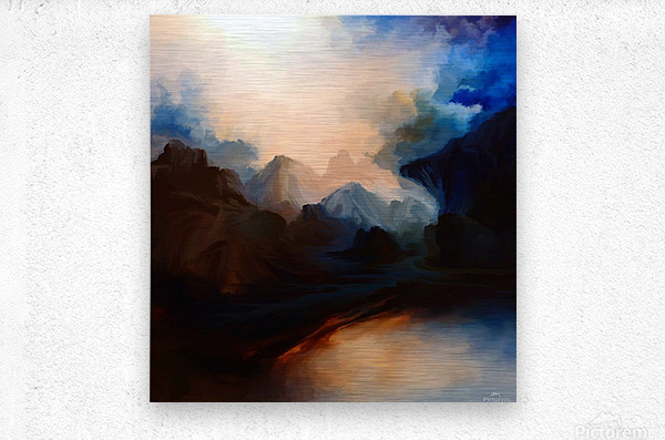 Sunset in the Mountains 25  Metal print