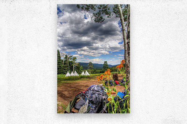 Rest with a View  Metal print