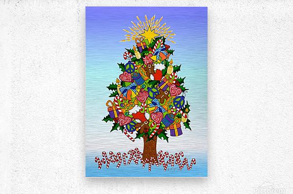 Joy of Christmas  Metal print