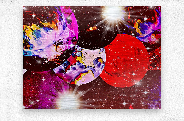 The Imaginary Planets Series 5  Metal print