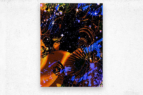 The Imaginary Planets Series 6  Metal print