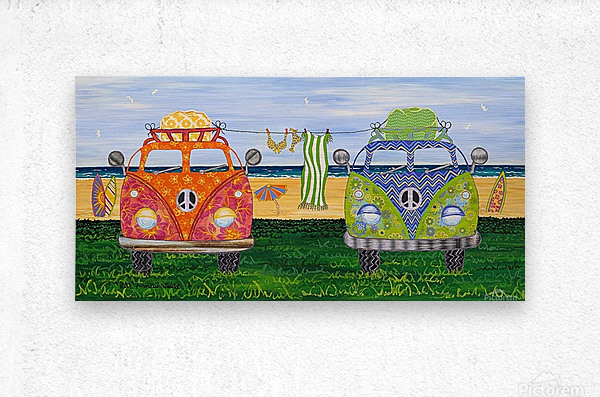 Hippy Van Holiday no.1  Metal print