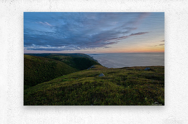 From the top of Blueberry Mountain  Metal print