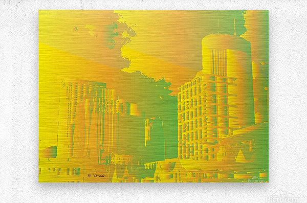 Abstract Building Minneapolis Skyline  Metal print
