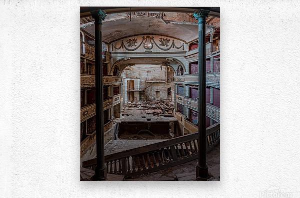 Abandoned Cinema  Metal print