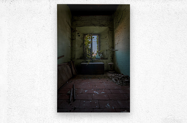 Abandoned Chest  Metal print