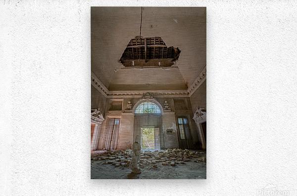 Abandoned Villa Decaying  Metal print