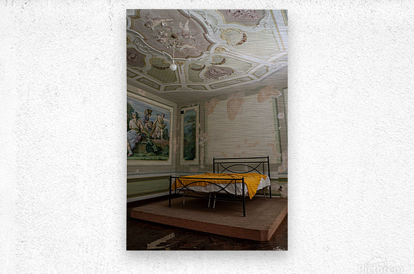 Abandoned Mansion Marvelous Bedroom  Metal print