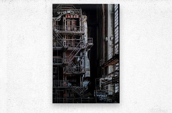Abandoned Blade Runner Factory  Metal print