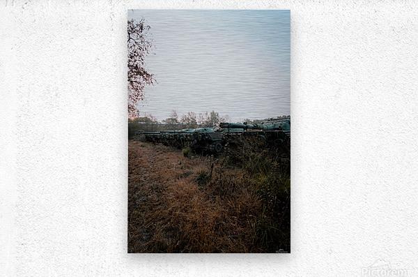 Abandoned Tank Graveyard  Metal print