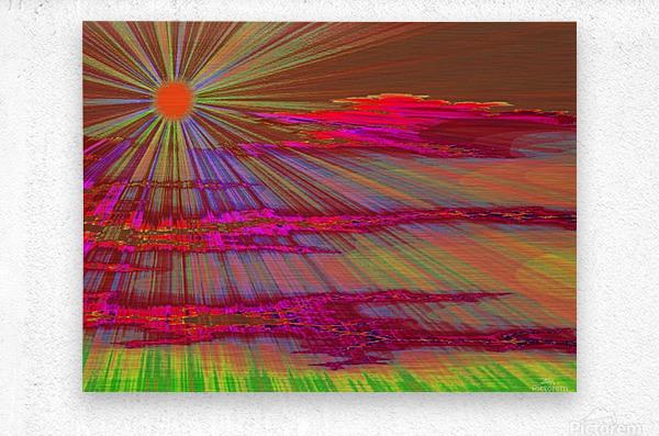 Sunrise In The Klamath Basin 2   Metal print