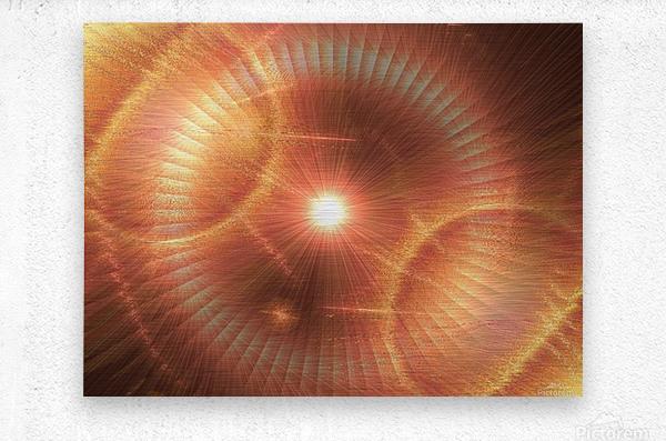 Sun Storm 1  Metal print