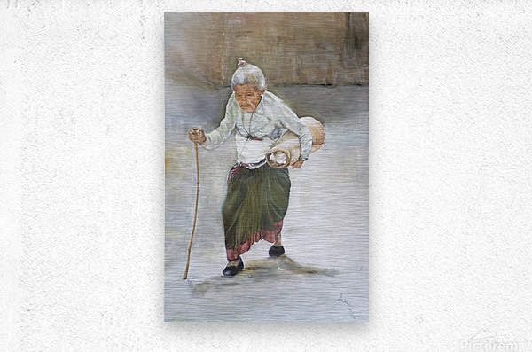 Old_Woman_High_Res  Impression metal