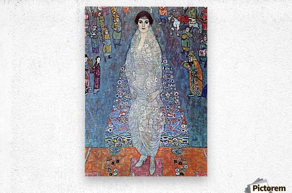 Baroness Elizabeth by Klimt  Metal print