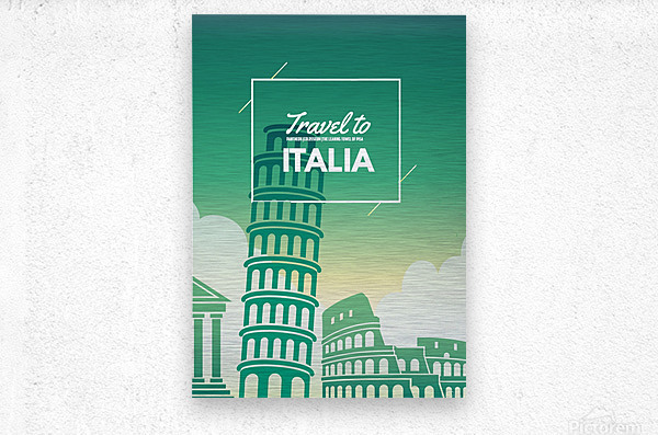 Travel to Italy  Metal print