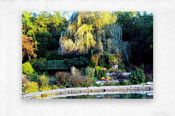 Reflections of a Monet Garden  Metal print